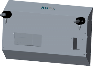 Wall mounted docking station from ROEQ for Mir100 and MiR200