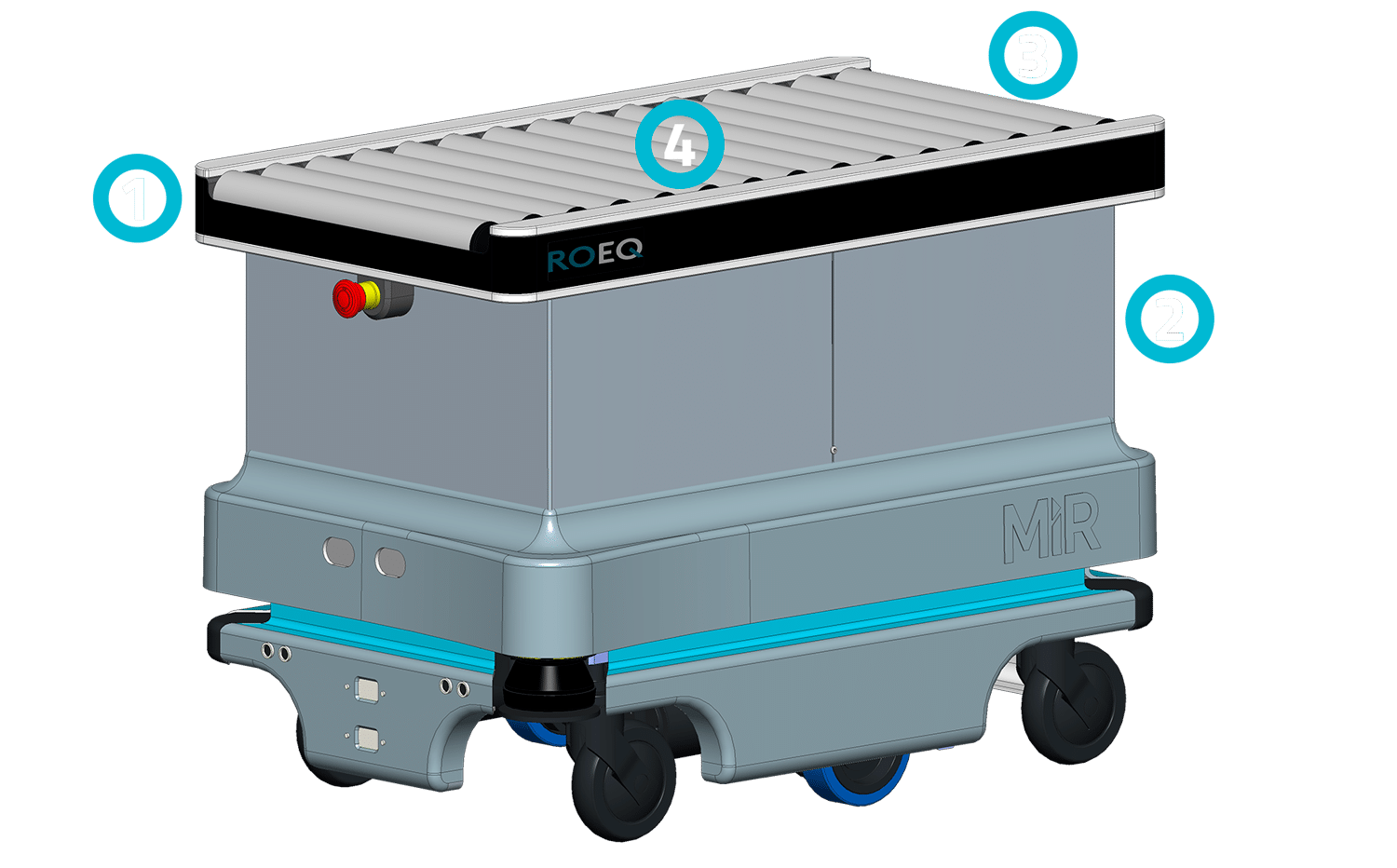 IRC100 from ROEQ Robotic Equipment for MiR100 and Mir200 from Mobile Industrial Robots