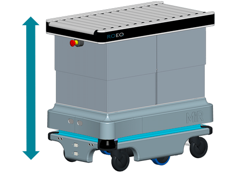 Step 3 optional IRC100 from ROEQ Robotic Equipment for MiR100 and Mir200 from Mobile Industrial Robots